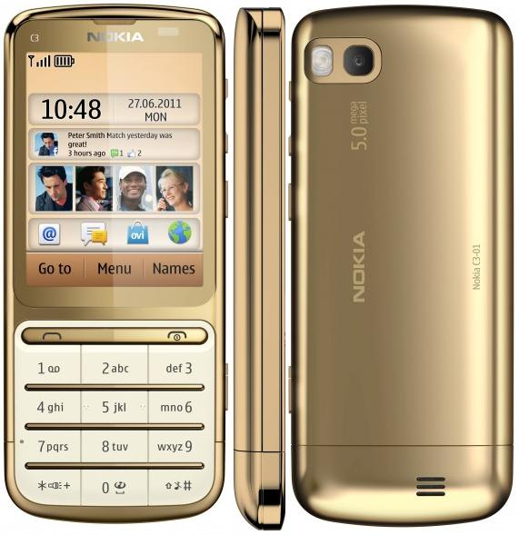 Nokia C3-01 Gold EditionNokia C3 Gold